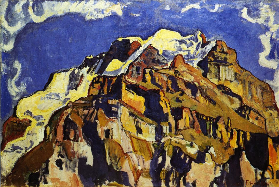Jungfrau and Silverhorn as Seen from Murren | Ferdinand Hodler | oil painting