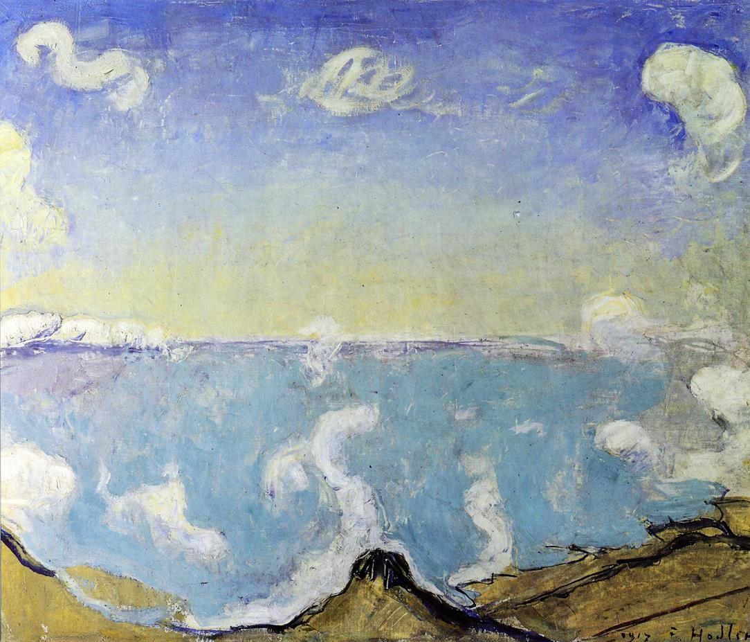 Caux Landscape with Rising Clouds | Ferdinand Hodler | oil painting