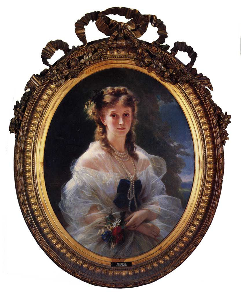 Princess Sophie Troubetskoi Duchess de Morny 1863 | Franz Xavier Winterhalter | oil painting