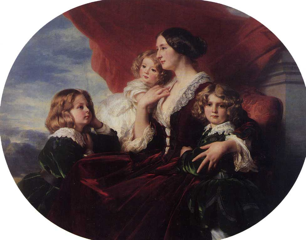 Elzbieta Branicka Countess Krasinka and her Children 1853 | Franz Xavier Winterhalter | oil painting