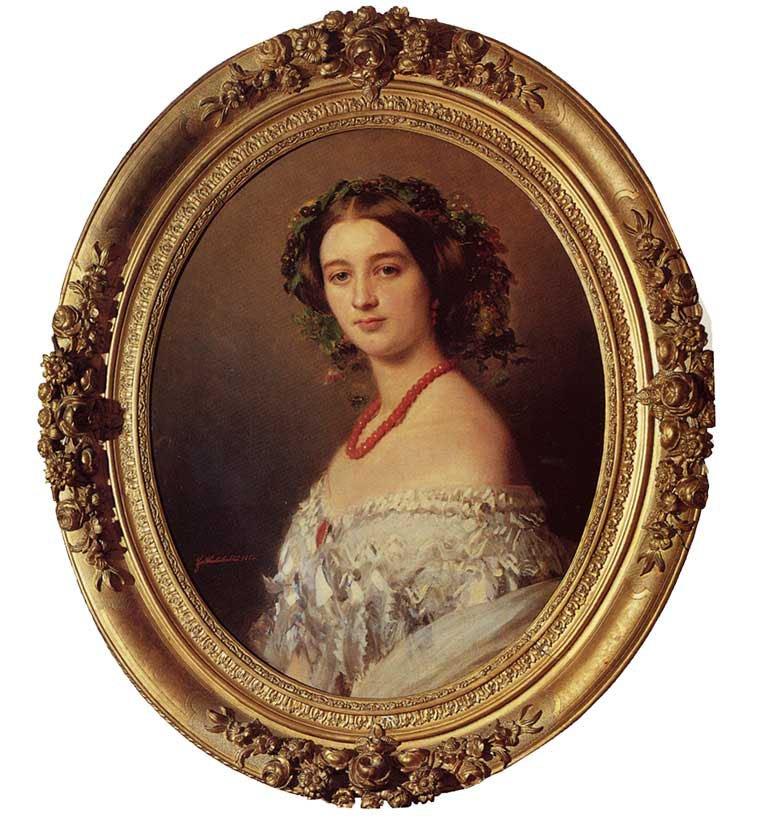 Malcy Louise Caroline Frederique Berthier de Wagram Princess Murat 1854 | Franz Xavier Winterhalter | oil painting