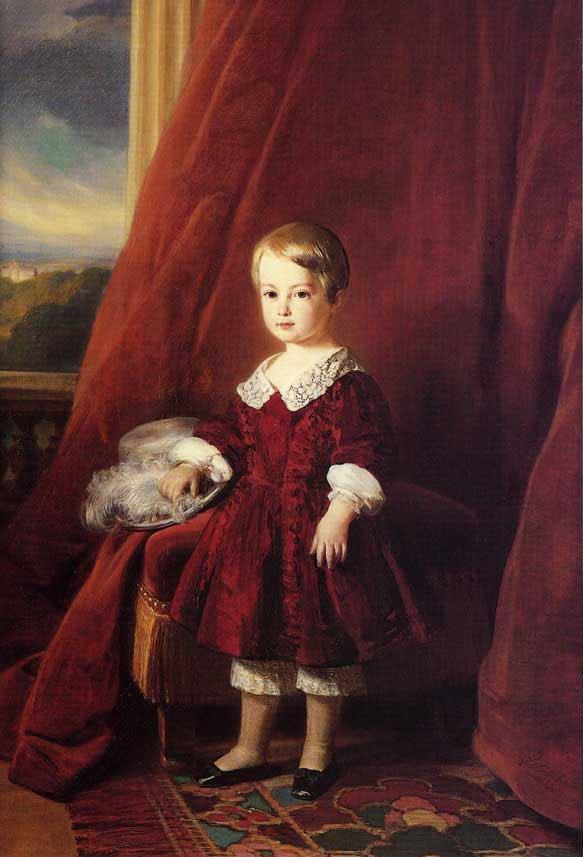 Louis Philippe Marie Ferdinand Gaston D'Orleans Comte D'Eu 1845   Franz Xavier Winterhalter   oil painting