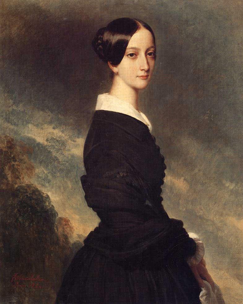 Francoise Caroline Gonzague Princesse de Joinville 1844 | Franz Xavier Winterhalter | oil painting