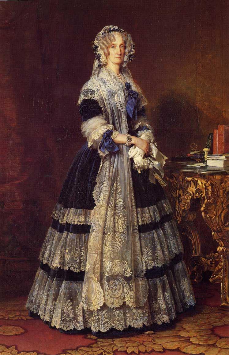 Queen Marie Amelie 1842   Franz Xavier Winterhalter   oil painting