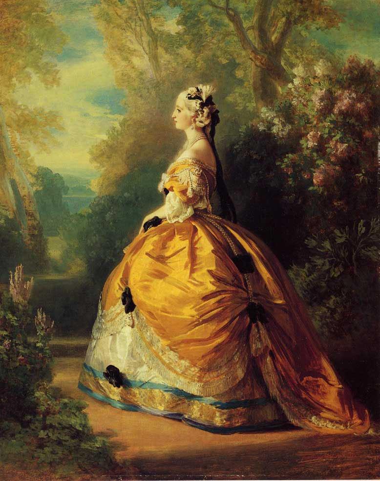 The Empress Eugenie a la Marie Antoinette 1854   Franz Xavier Winterhalter   oil painting