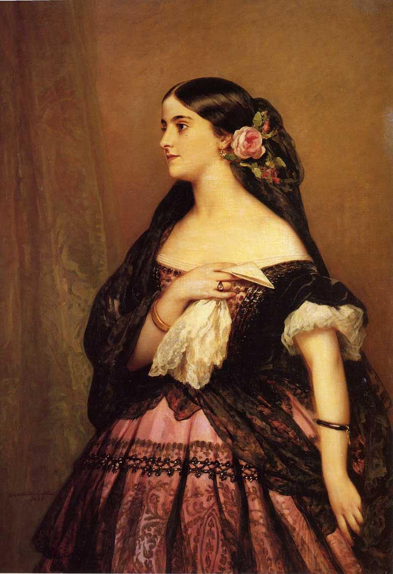 Adelina Patti 1863 | Franz Xavier Winterhalter | oil painting