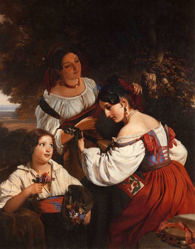 Roman Genre Scene 1833   Franz Xavier Winterhalter   oil painting