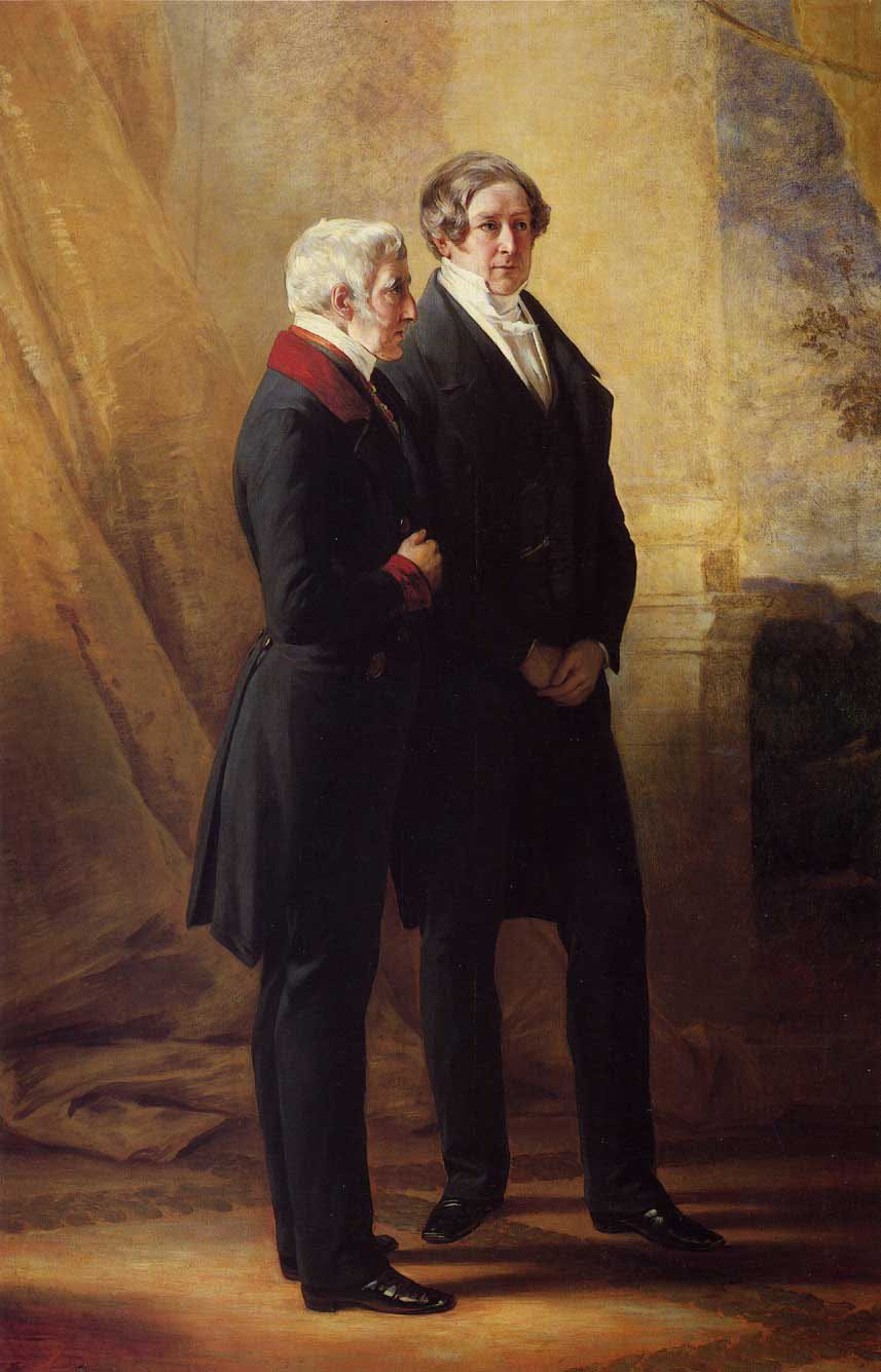 Arthur Wellesley 1st Duke of Wellington with Sir Robert Peel 1844 | Franz Xavier Winterhalter | oil painting