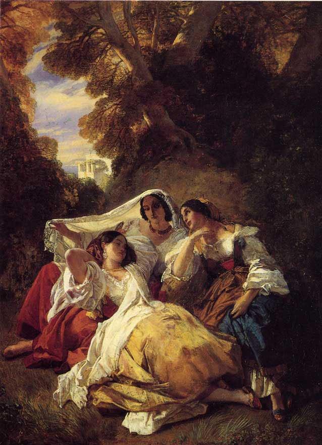 La Siesta 1841   Franz Xavier Winterhalter   oil painting