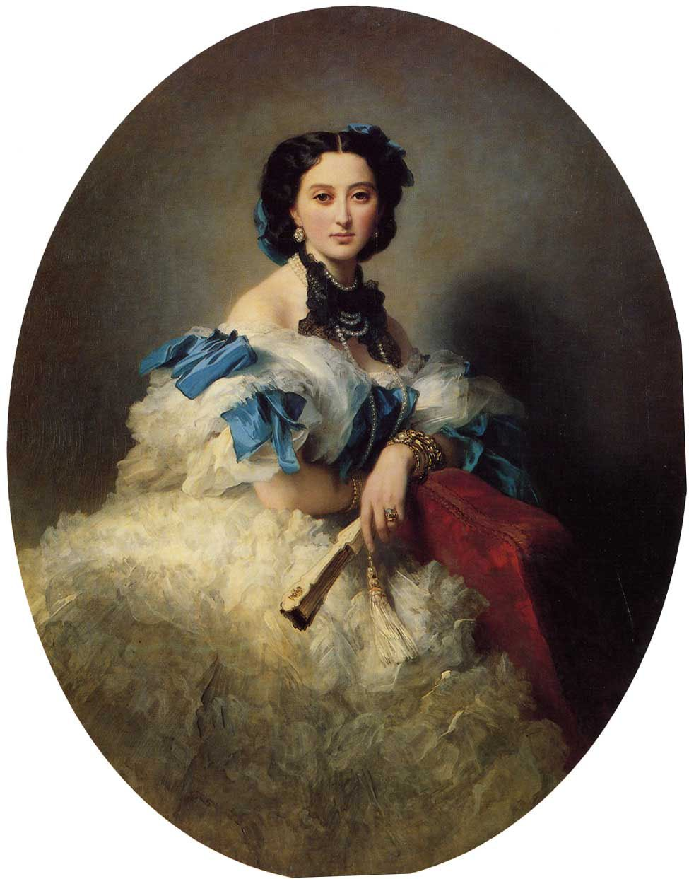 Countess Varvara Alekseyevna Musina Pushkina 1857 | Franz Xavier Winterhalter | oil painting