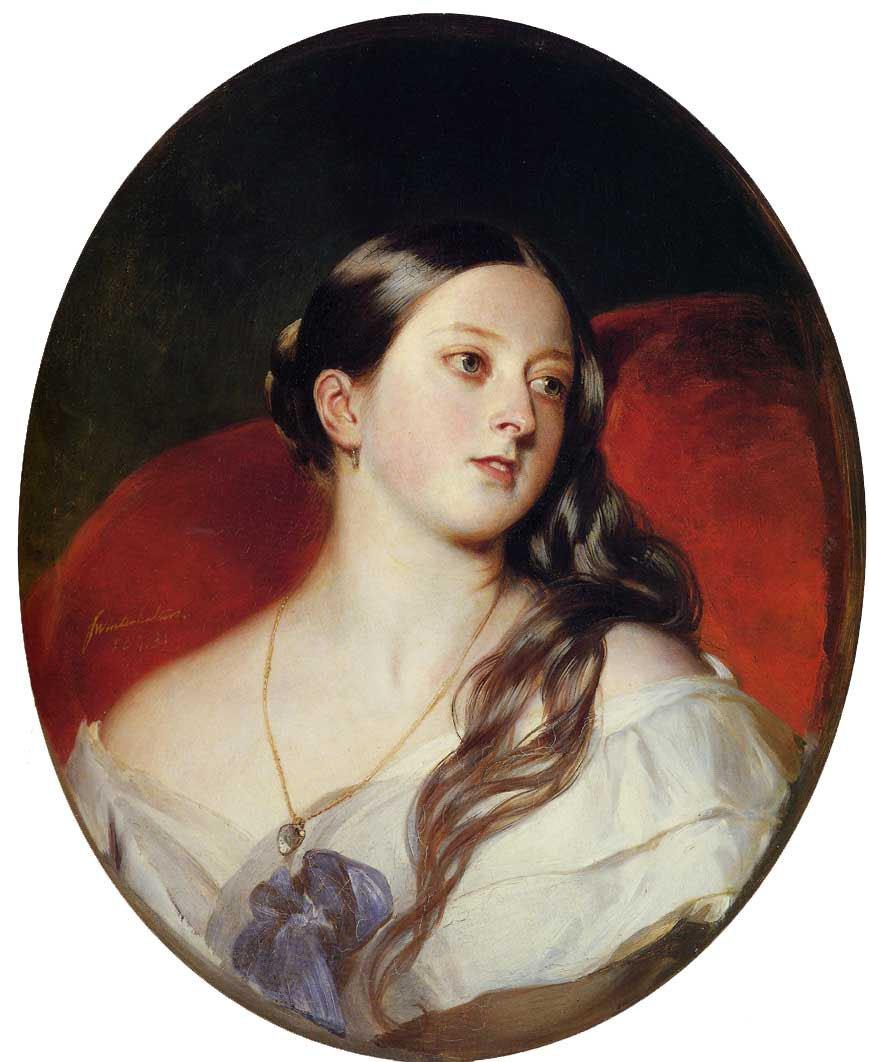 Queen Victoria 1843   Franz Xavier Winterhalter   oil painting