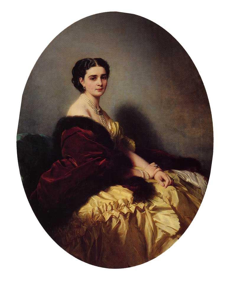 Madame Sofya Petrovna Naryschkina 1858   Franz Xavier Winterhalter   oil painting
