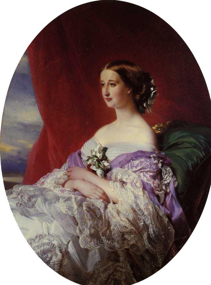 The Empress Eugenie 1854   Franz Xavier Winterhalter   oil painting