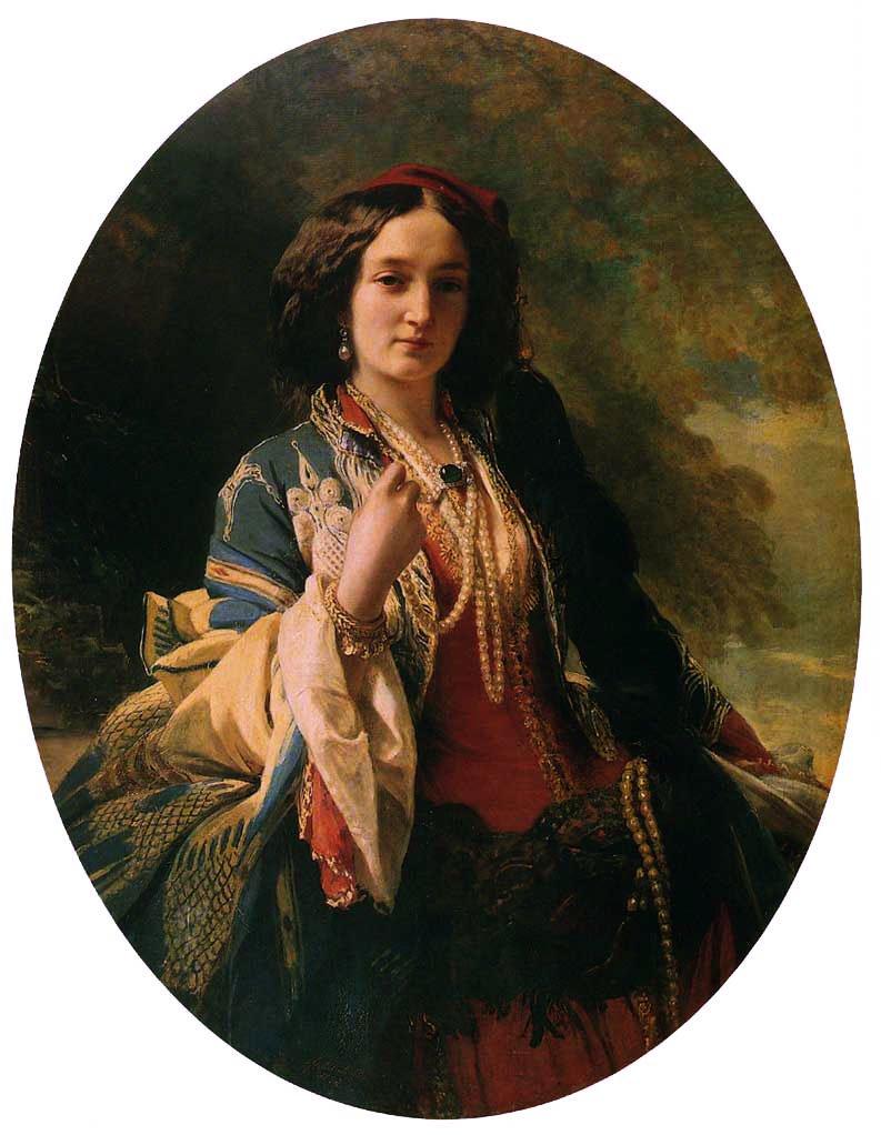 Katarzyna Branicka Countess Potocka 1854   Franz Xavier Winterhalter   oil painting