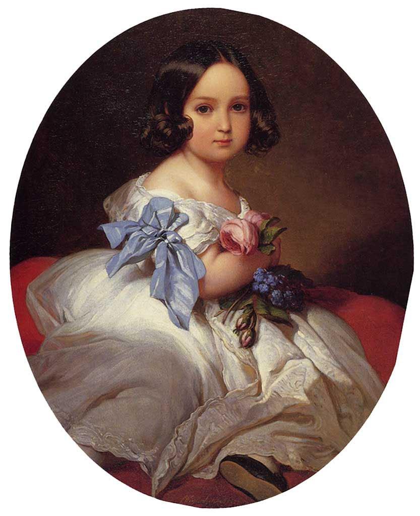 Princess Charlotte of Belgium 1842   Franz Xavier Winterhalter   oil painting