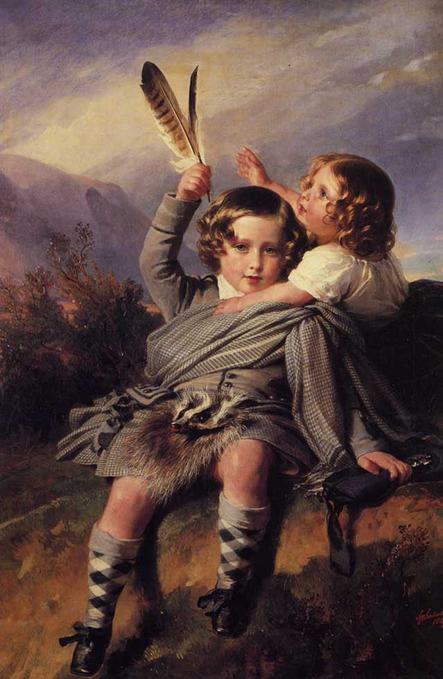 Prince Alfred and Princess Helena 1849   Franz Xavier Winterhalter   oil painting