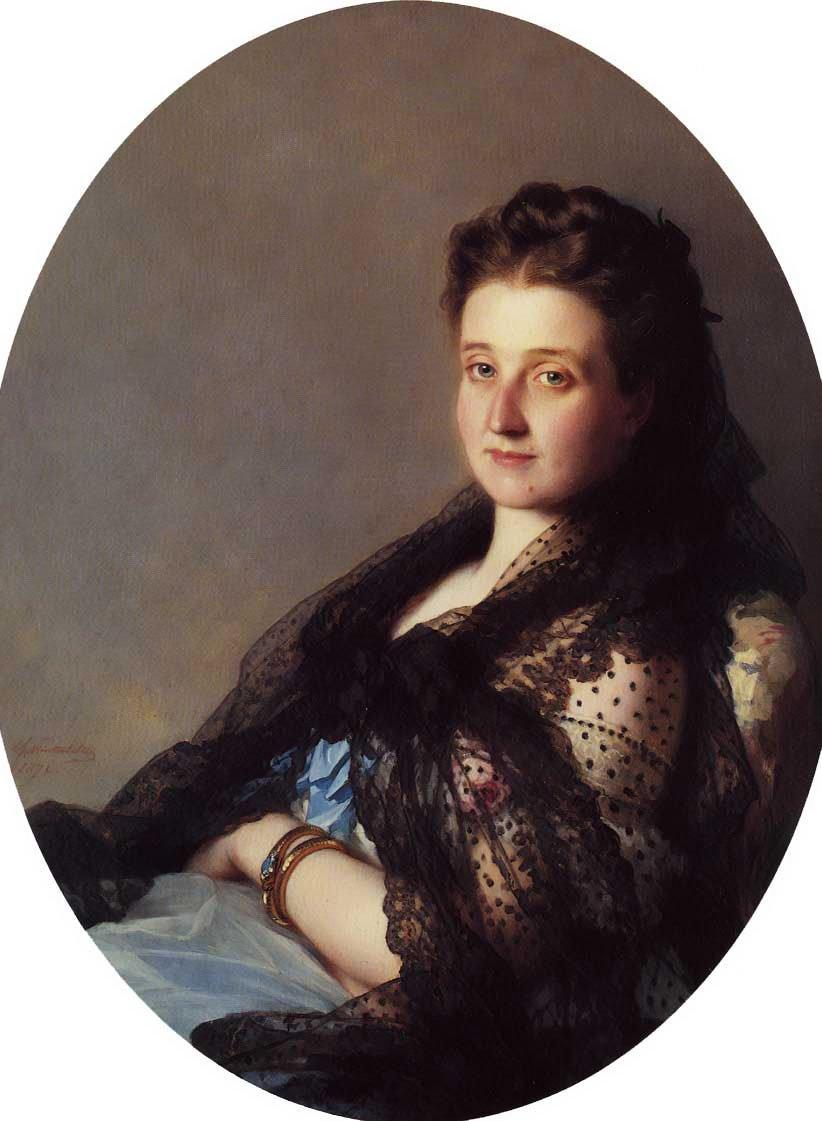 Portrait of a Lady 1872   Franz Xavier Winterhalter   oil painting
