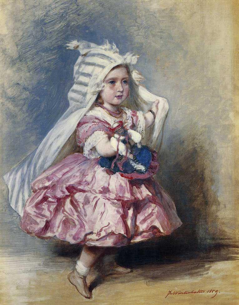Princess Beatrice 1859   Franz Xavier Winterhalter   oil painting