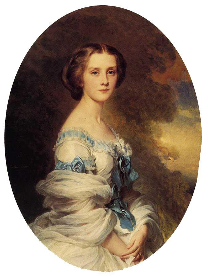 Melanie de Bussiere Comtesse Edmond de Pourtales 1857   Franz Xavier Winterhalter   oil painting