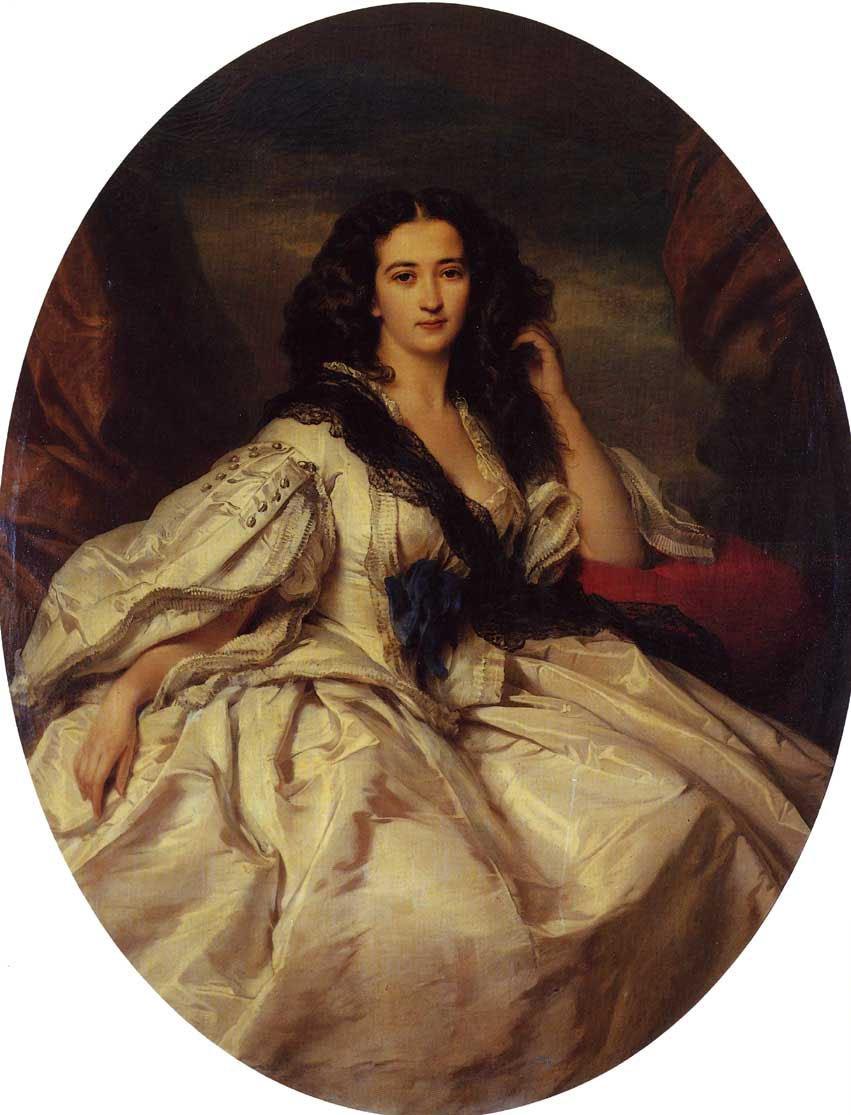 Wienczyslawa Barczewska Madame de Jurjewicz 1860 | Franz Xavier Winterhalter | oil painting