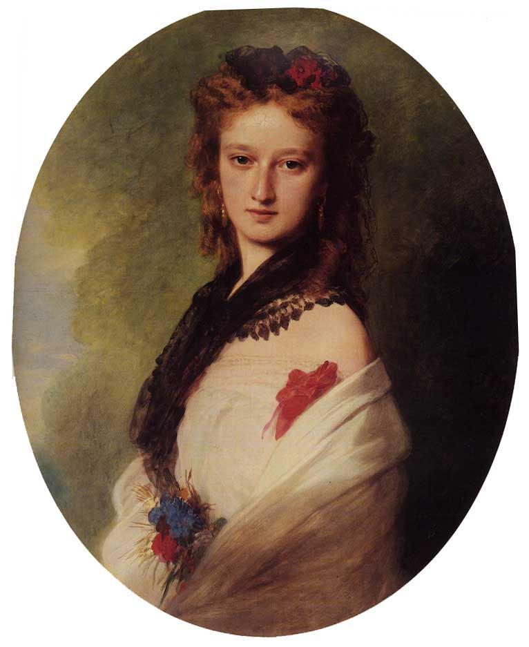 Zofia Potocka Countess Zamoyska 1870 | Franz Xavier Winterhalter | oil painting