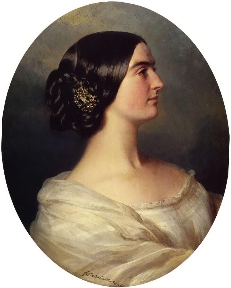 Charlotte Stuart Viscountess Canning 1849 | Franz Xavier Winterhalter | oil painting