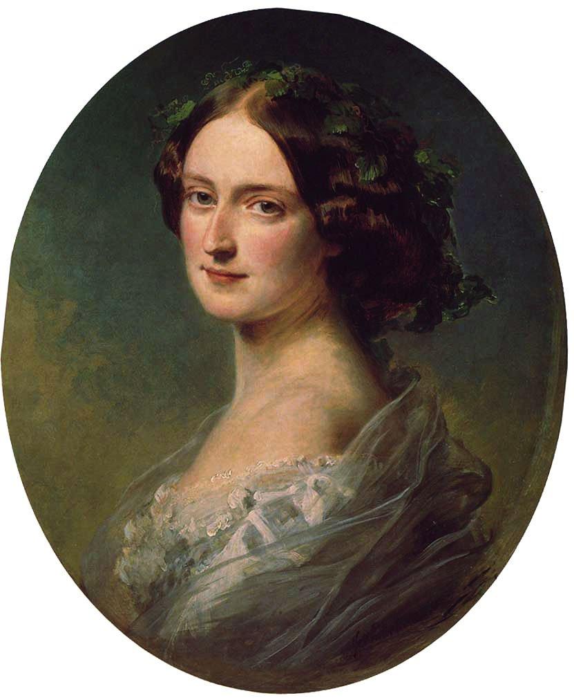 Lady Clementina Augusta Wellington Child Villiers 1857   Franz Xavier Winterhalter   oil painting