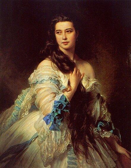 Madame Barbe de Rimsky Korsakov 1864 | Franz Xavier Winterhalter | oil painting