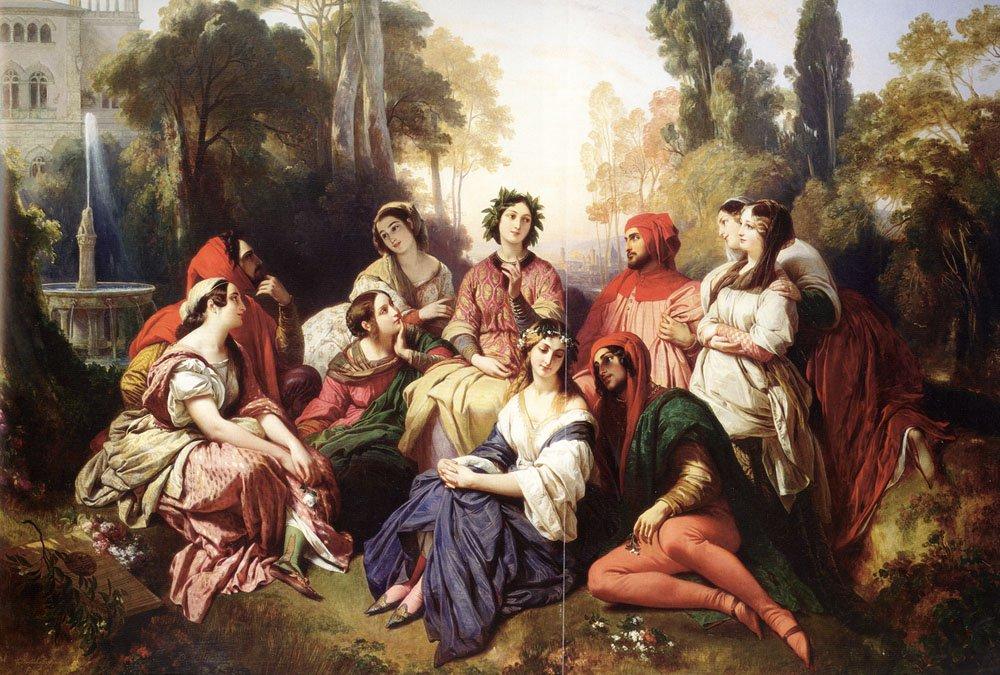The Decameron 1837   Franz Xavier Winterhalter   oil painting