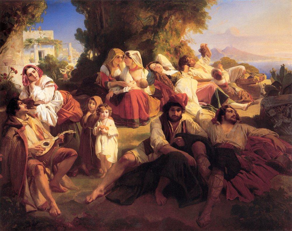 Il dolce far niente 1836 | Franz Xavier Winterhalter | oil painting