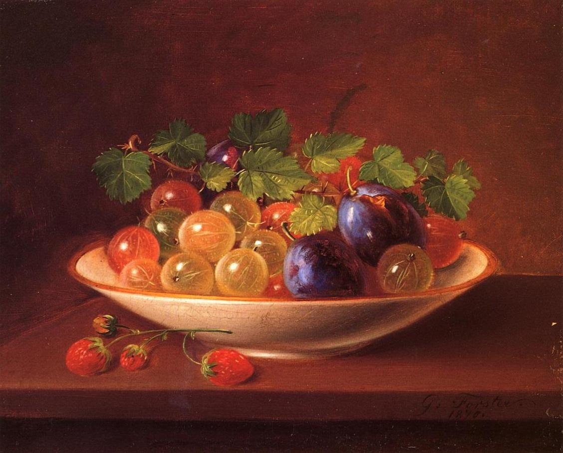 Still Life with Fruit 1840 | George Forster | oil painting