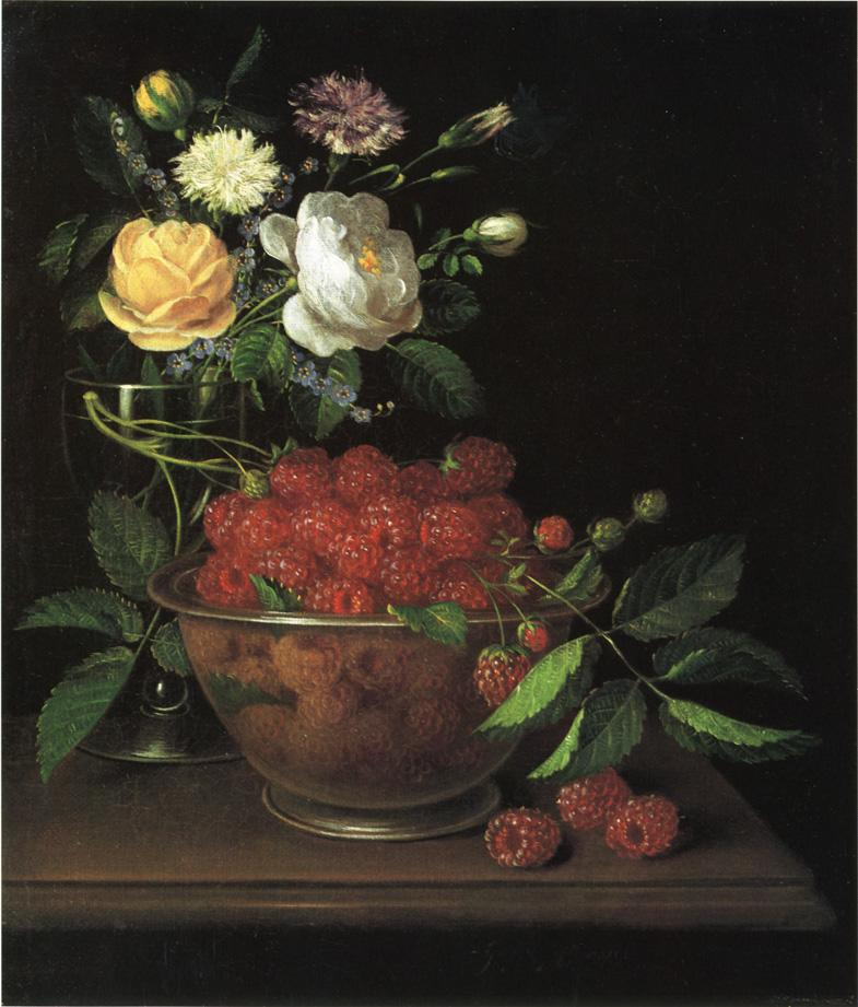 Still Life with Bowl of Raspberries 1884 | George Forster | oil painting