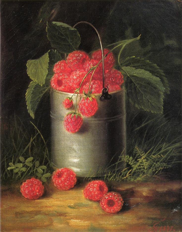 A Pail of Raspberries 1871 | George Forster | oil painting