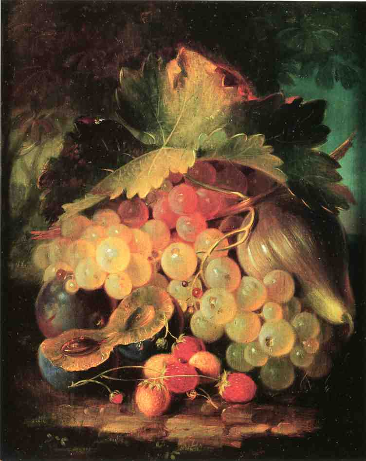 Still Life with Strawberries 1860 | George Forster | oil painting