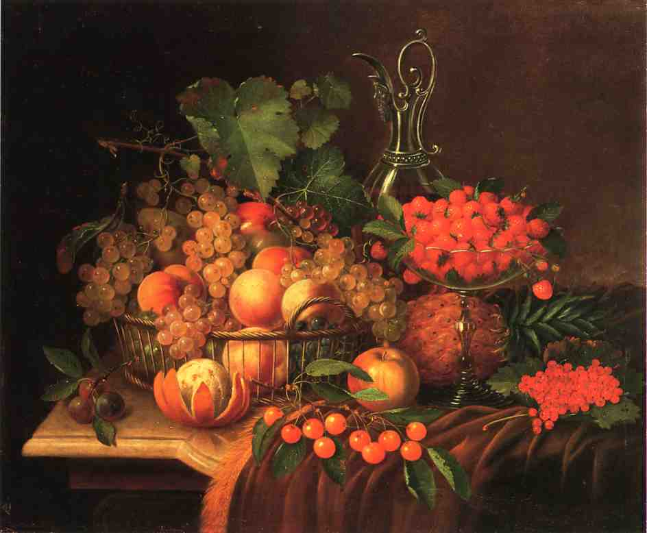 Still Life with Fruit 1886 | George Forster | oil painting