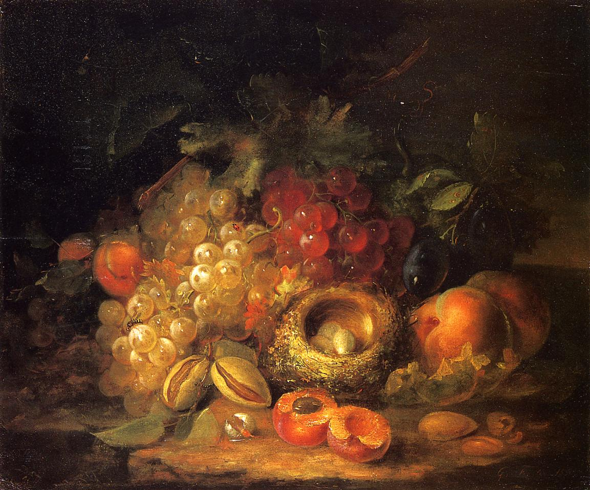 Still Life with Grapes and Peaches 1886 | George Forster | oil painting