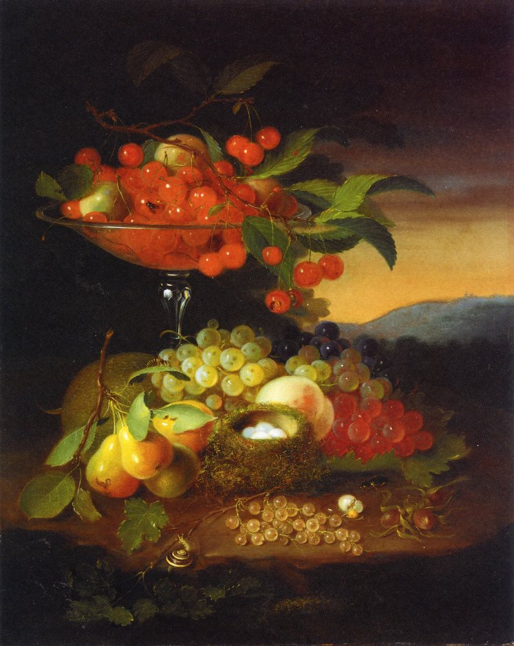 Still Life with Fruit 1862 | George Forster | oil painting