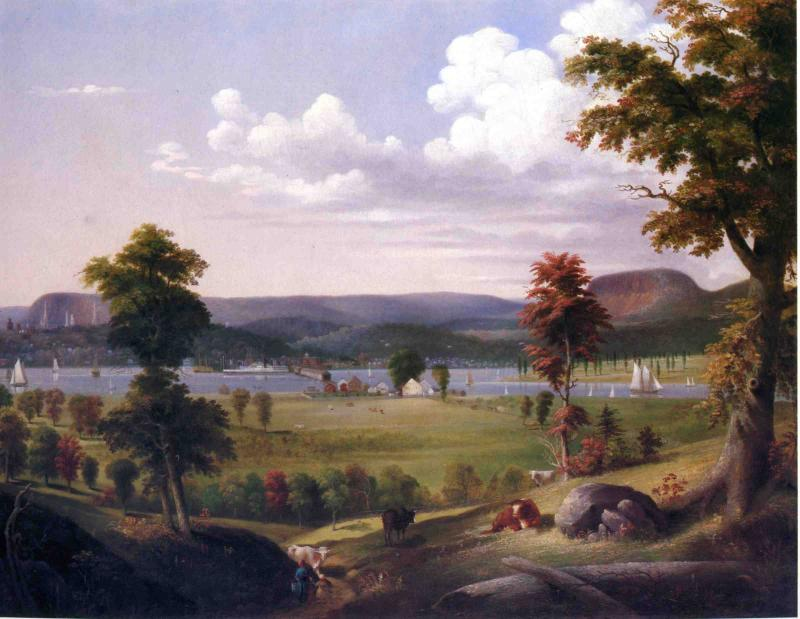Summer Landscape Near New Haven View from East Haven 1849 | George Henry Durrie | oil painting