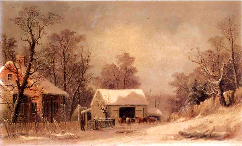 Winter in the Country 1860 1863 | George Henry Durrie | oil painting
