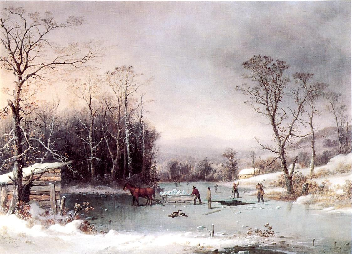 Winter in the Country Getting ice 1862 | George Henry Durrie | oil painting