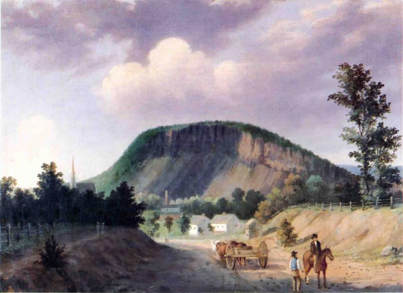 West Rock New Haven 1853 | George Henry Durrie | oil painting