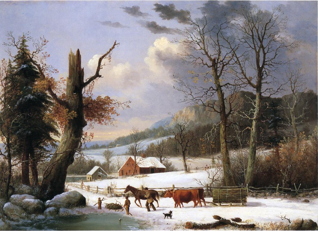 Gathering Wood for Winter 1855 | George Henry Durrie | oil painting