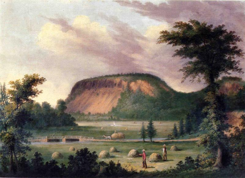 East Rock New Haven 1853   George Henry Durrie   oil painting