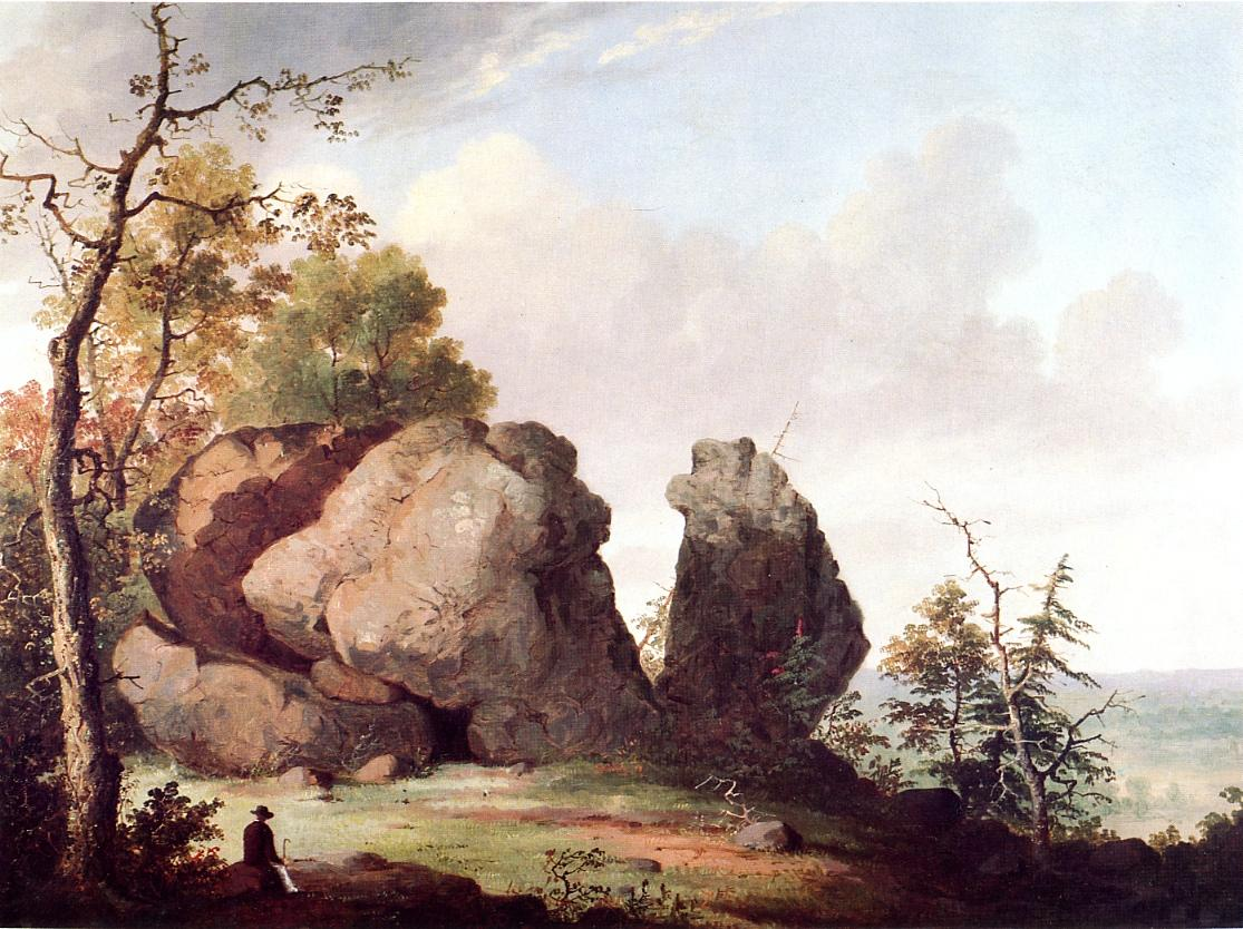 Judges Cave West Rock New Haven 1856 | George Henry Durrie | oil painting