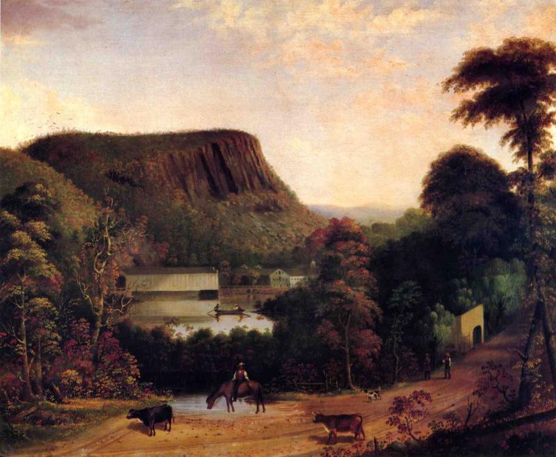 Ithiel Town's Bridge Near East Rock 1847 | George Henry Durrie | oil painting