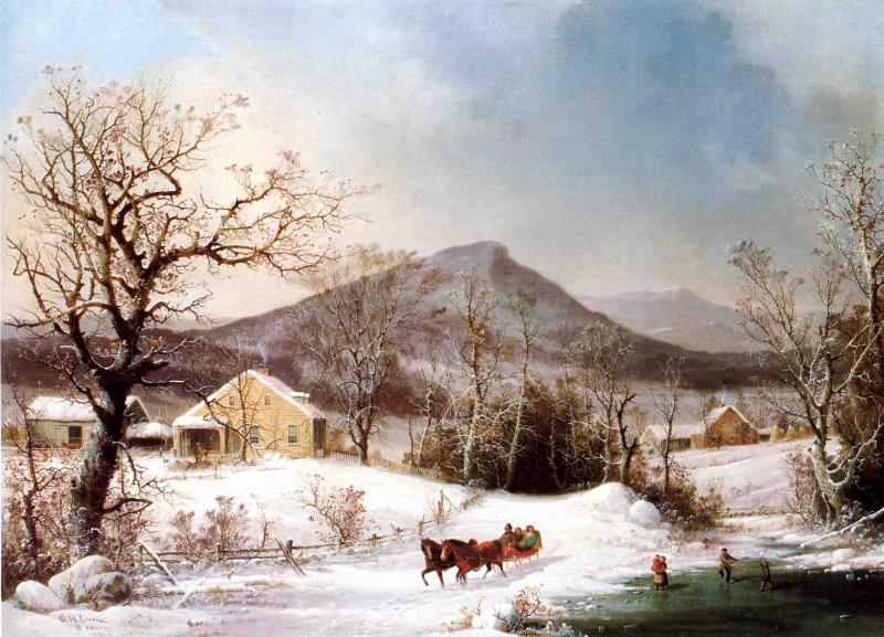 Winter in the Country 1861 | George Henry Durrie | oil painting