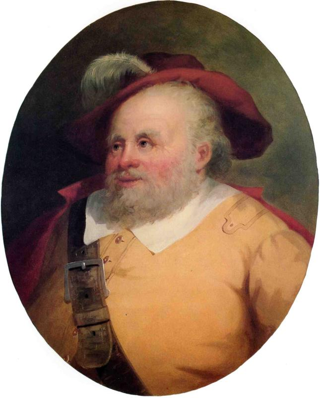 James Hackett as Falstaff 1850 1853 | George Henry Durrie | oil painting