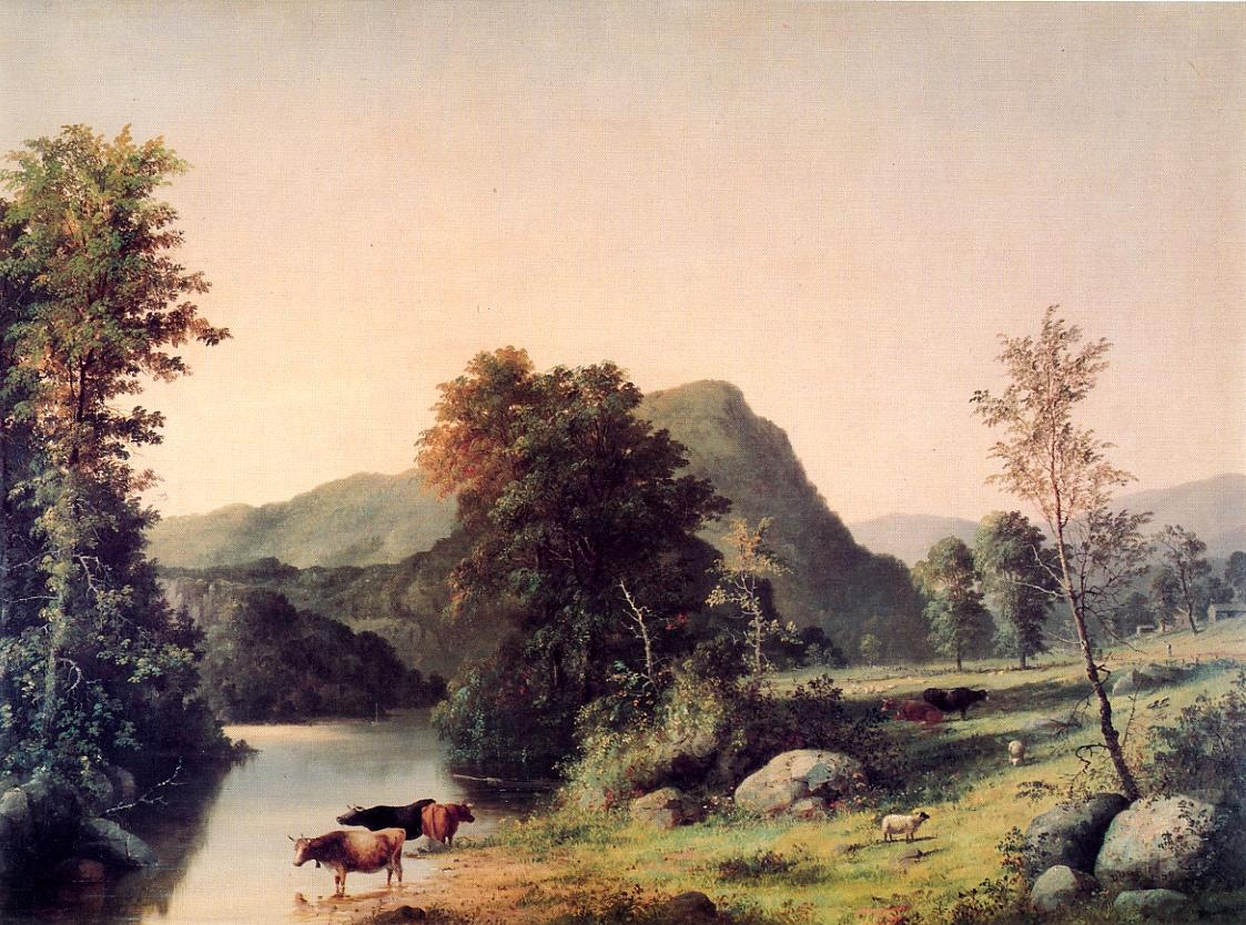 Landscape with Cattle 1859 | George Henry Durrie | oil painting