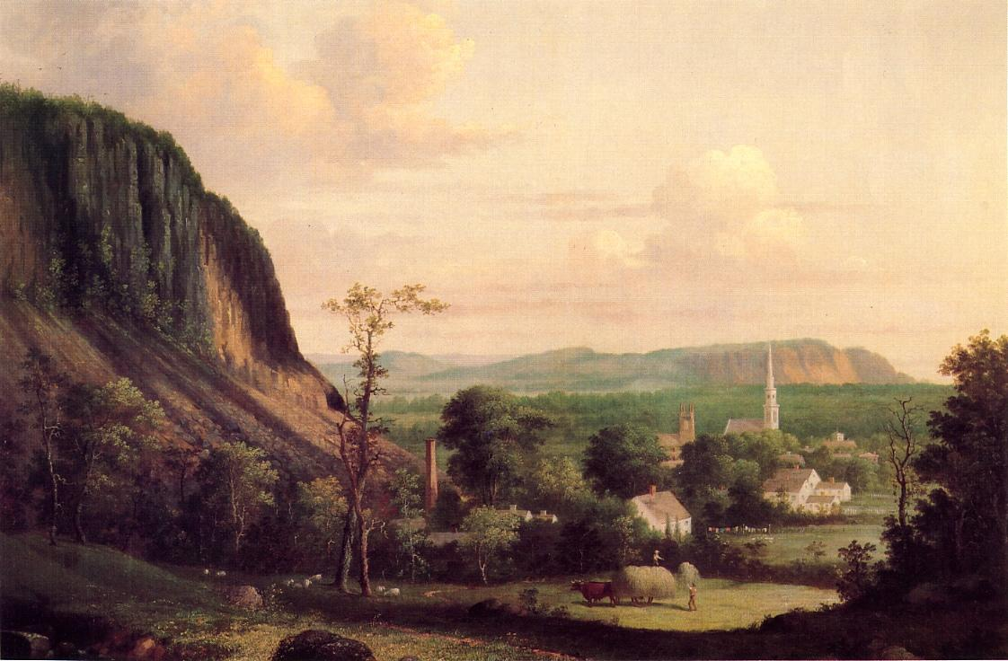 View of Westville 1856 | George Henry Durrie | oil painting