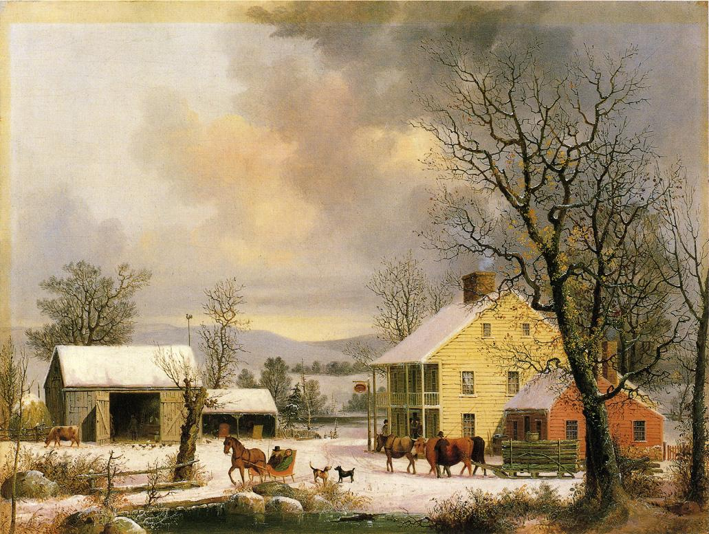 Winter in the Country 1857 | George Henry Durrie | oil painting